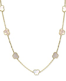 "EFFY® Mother-of-Pearl Butterfly 36"" Statement Necklace in 18k Gold-Plated Sterling Silver"