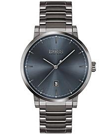 Men's Confidence Gray Stainless Steel Bracelet Watch 42mm