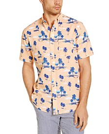 Men's Sunset Tropical Print Short Sleeve Shirt, Created for Macy's