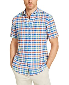 Men's Avon Plaid Short Sleeve Shirt, Created for Macy's
