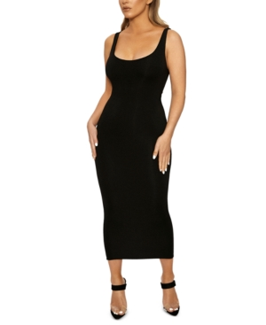 Naked Wardrobe The Nw Hourglass Midi Dress In Black