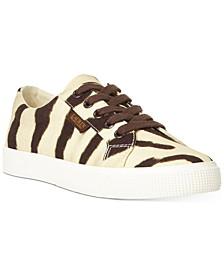 Jaycee Zebra Canvas Sneakers