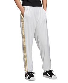 Women's Metallic-Accent Track Pants