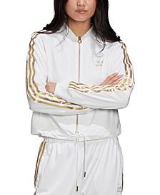 Women's Metallic-Accent Track Jacket