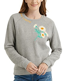 Embroidered Daisy Sweatshirt