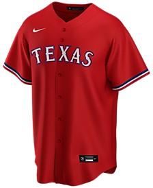 Men's Texas Rangers Official Blank Replica Jersey