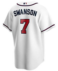 Men's Dansby Swanson Atlanta Braves Official Player Replica Jersey