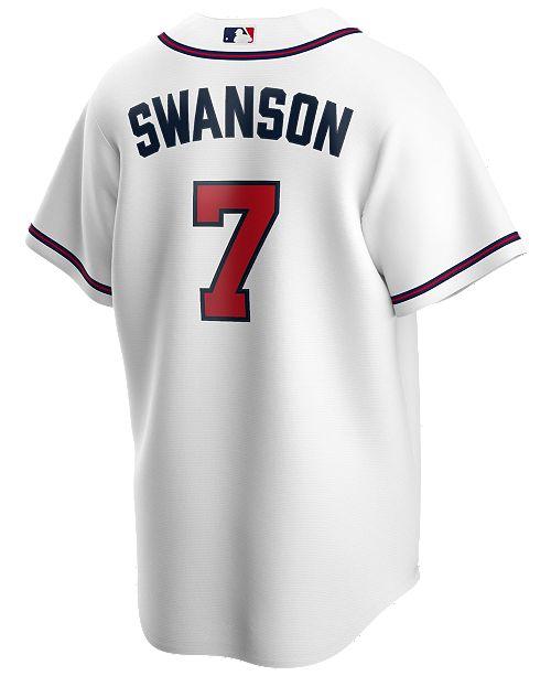 Nike Men's Dansby Swanson Atlanta Braves Official Player Replica Jersey