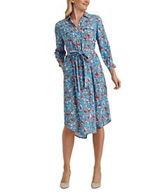 Chelsea Floral-Print Utility Dress