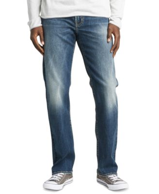 Silver Jeans Co Mens Grayson Easy Fit Straight Leg Jeans