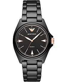 Men's Black Ceramic Bracelet Watch 40mm