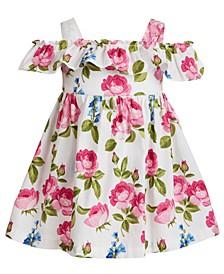 Baby Girls Roses Off-The-Shoulder Dress