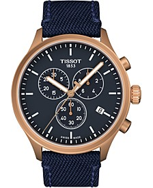 Men's Swiss Chrono XL T-Sport Blue Fabric Strap Watch 45mm