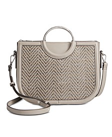 INC Heatherr Woven Satchel, Created for Macy's
