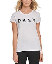 Cotton Tie-Side Graphic T-Shirt