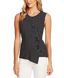 Striped Side-Twist Top