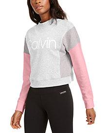 Calvin Klein Performance Colorblocked Fleece Sweatshirt
