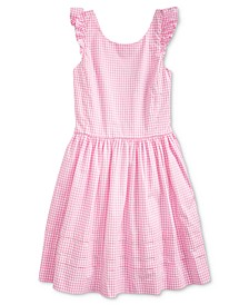 Big Girls Gingham Cotton Poplin Dress