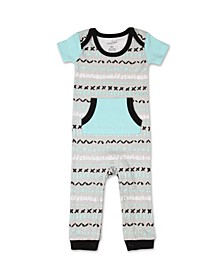 Baby Boy Safari Story Short Sleeve Romper