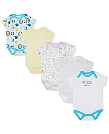 Earth by Baby Boys 5-Pk. Organic Cotton Character Bodysuits