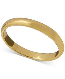 Polished Band in 18k Gold-Plated Sterling Silver, Created for Macy's