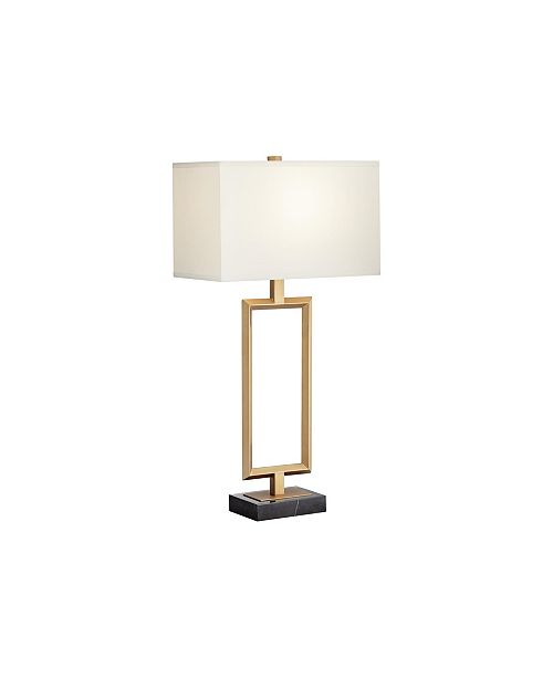 """Pacific Coast Lighting 31.25"""" Metal Table Lamp in Matte Antique Brass"""