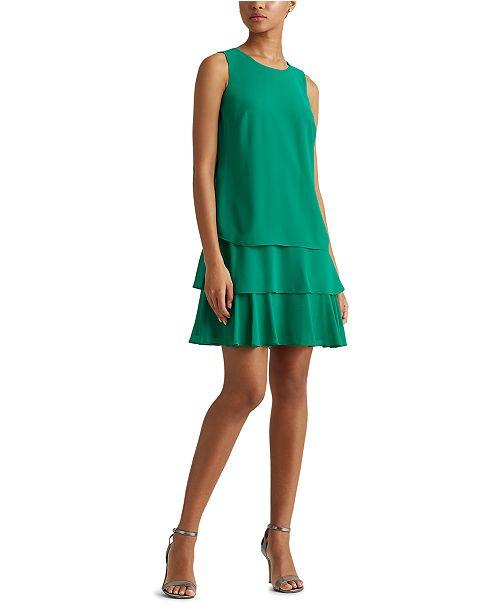 Lauren Ralph Lauren Georgette Shift Dress