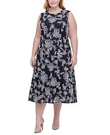 Plus Size Boa Vista Paisley Lace Dress