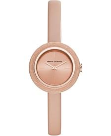 Women's Giulia Blush Leather Strap Watch 30mm
