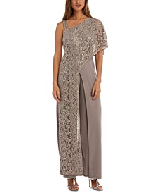 One-Shoulder Lace Jumpsuit