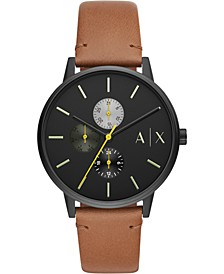 Men's Cayde Brown Leather Strap Watch 42mm