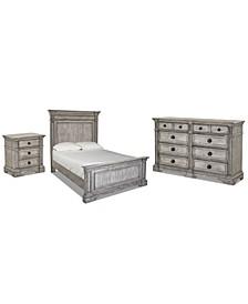 Windmere Bedroom 3-Pc. Set (Queen Bed, Nightstand & Dresser)