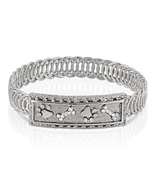 Silver-Tone Paw and Bones Belt Bracelet