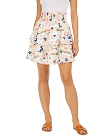 Floral-Print Tiered Skirt, Created for Macy's