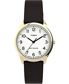 Women's Easy Reader Brown Leather Strap Watch 32mm
