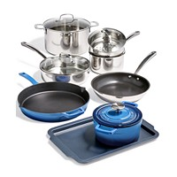 Deals on Martha Stewart Collection 12-Pc. Mixed Material Cookware Set