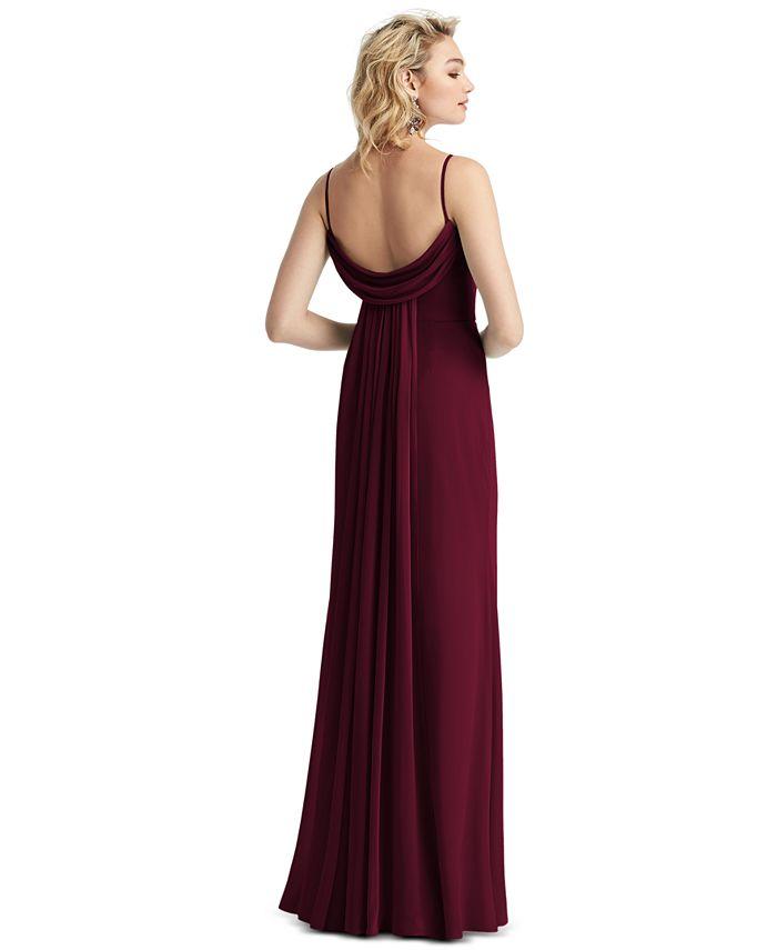 After Six - Draped-Back Sleeveless Maxi Dress
