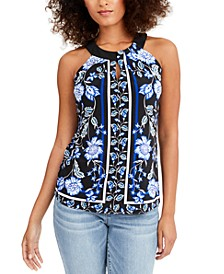 INC Twist Keyhole Halter Top, Created for Macy's