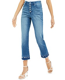 INC Double-Hem Cropped Straight-Leg Jeans, Created For Macy's