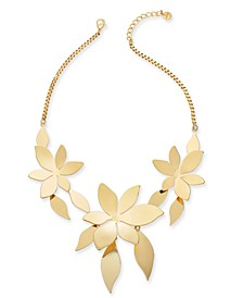 """Gold-Tone Flower Statement Necklace, 19"""" + 3"""" extender, Created for Macy's"""
