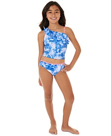 Big Girls 2-Pc. Tie-Dye One-Shoulder Tankini