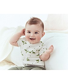 Baby Boys 2-Pc. Cotton Dinosaur-Print Bodysuit & Pants Set