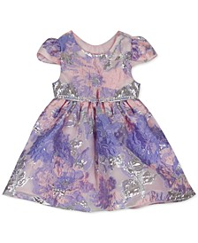 Baby Girls Burnout Organza Cap-Sleeve Dress