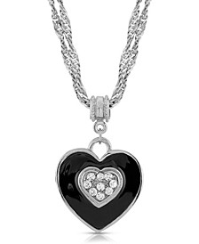 Enamel and Swarovski Crystal Heart Necklace