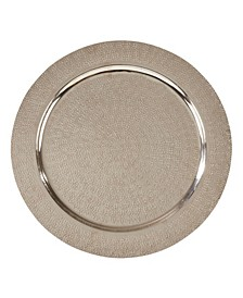 Aluminum Charger Plates with Hammered Design Set of 4