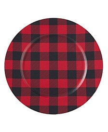 Table Chargers with Buffalo Plaid Design Set of 4