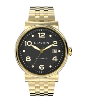 Men's Classic Collection Gold Tone Stainless Steel Bracelet watch 44mm