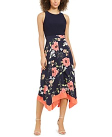 Floral-Print Asymmetrical-Hem Dress