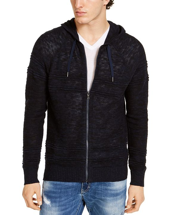 INC International Concepts INC Men's Porta Hooded Zip Sweater