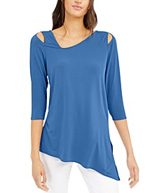 Cold-Shoulder Asymmetrical Top, Created for Macy's